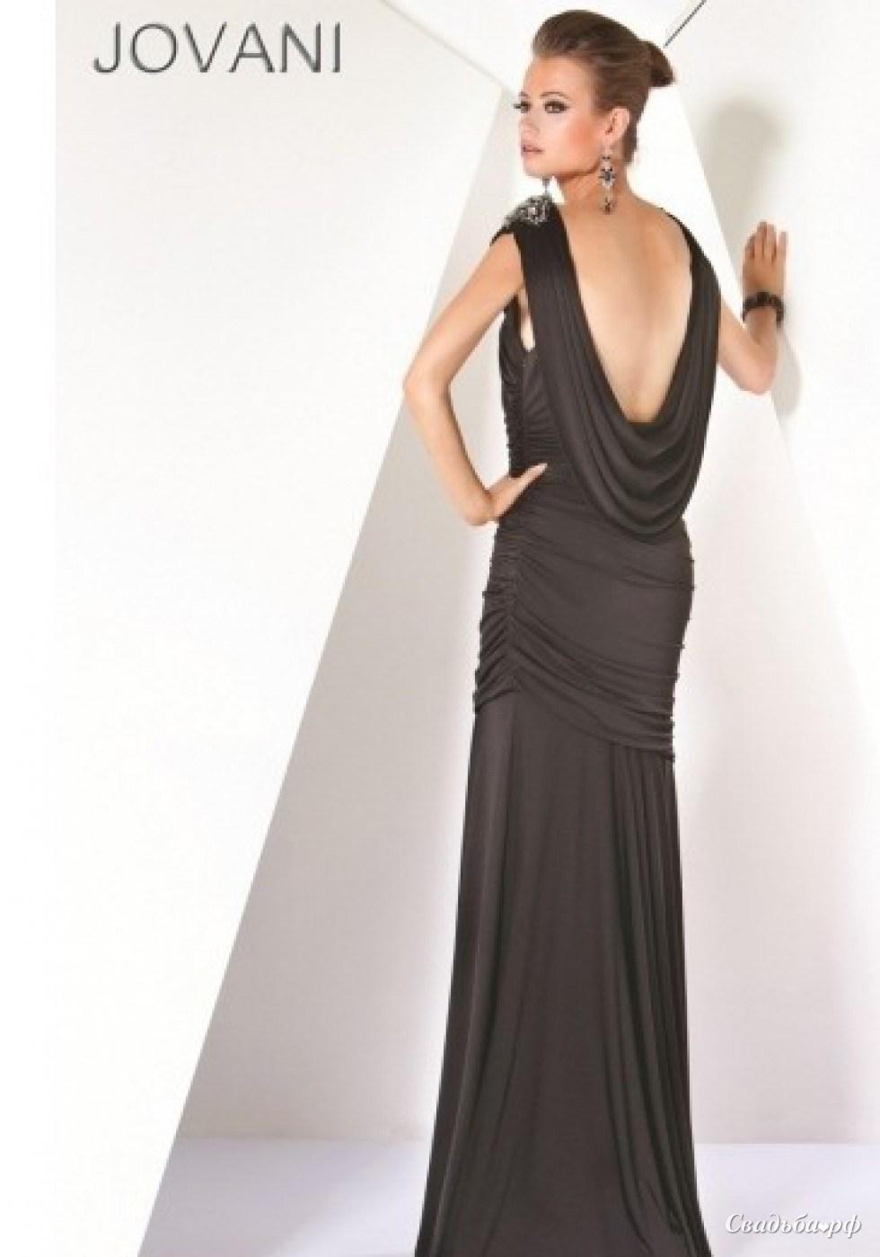 Купить вечернее платье 3484-А619 (Jovani, цвета: черный) - Свадебный салон Ажур